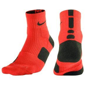 Nike Elite Cushioned Orange Grey Basketball Socks
